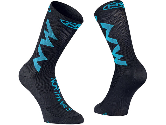 Northwave Extreme Air Chaussettes, black/sky blue